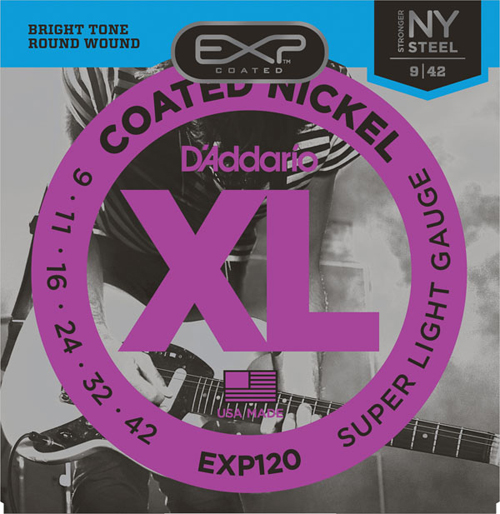 d 39 addario exp120 coated electric guitar strings super light 9 42. Black Bedroom Furniture Sets. Home Design Ideas