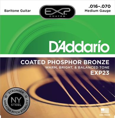 D'Addario EXP Coated Phosphor Bronze Acoustic EXP23 Baritone 16-70