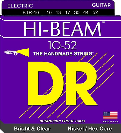 dr guitar strings dr strings btr 10 hi beam big heavy electric guitar 5805
