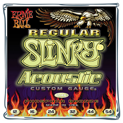 Ernie Ball 2146 Regular Slinky Acoustic Phosphor Bronze (12-54)