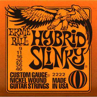 Ernie Ball 2222 Hybrid Slinky Electric Guitar (9-46) Full Set