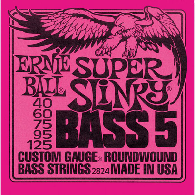 Ernie Ball 2824 Super Slinky 5-string Bass Nickel Wound (40-125)