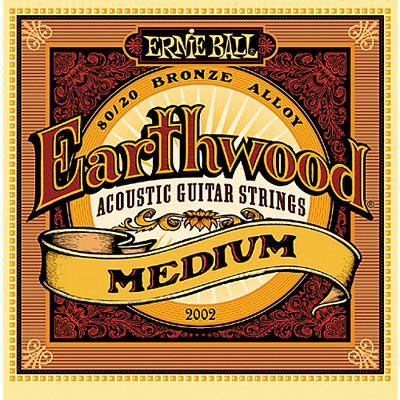 ernie ball 2002 earthwood acoustic 80 20 bronze strings med 13 56. Black Bedroom Furniture Sets. Home Design Ideas