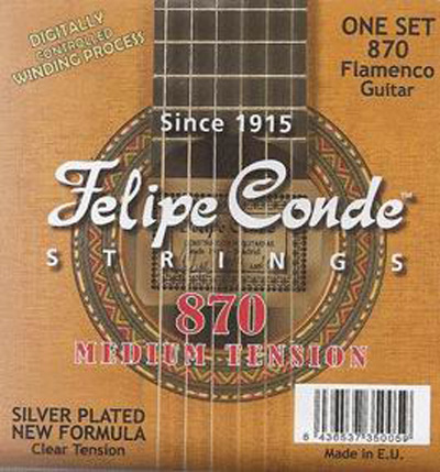 Felipe Conde Flamenco Guitar 870 (730) Medium Tension, Full Set