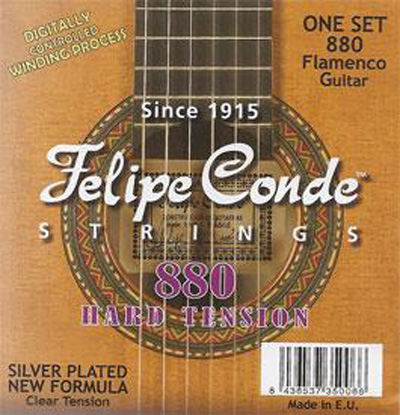 Felipe Conde Flamenco Guitar 880 (735) Hard Tension, Full Set