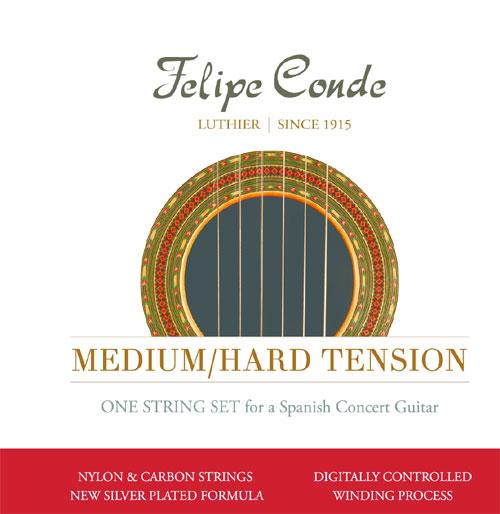 felipe conde concert med hard tension carbon classical guitar strings. Black Bedroom Furniture Sets. Home Design Ideas