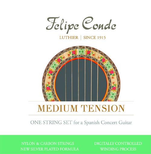 felipe conde concert med tension carbon classical guitar strings. Black Bedroom Furniture Sets. Home Design Ideas