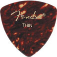 Fender Shell Thin 346 Guitar Pick Rounded Triangle, One