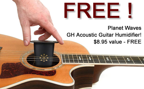 FREE Planet Waves GH Acoustic Classical Guitar Humidifier with purchase of D'Addario EJ26-3D