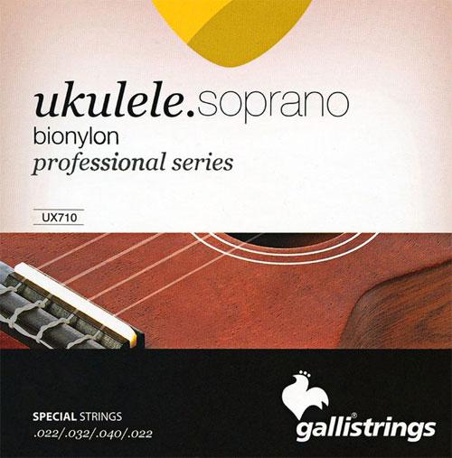 Galli UX710 Bionylon Professional Series Ukulele Strings, Soprano