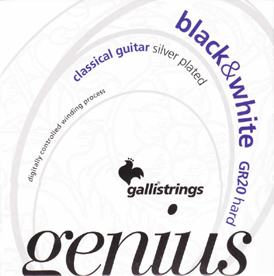 Galli Genius Black / White GR20 Hard Tension, Full Set