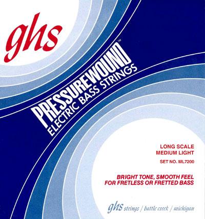 ghs ml7200 pressurewound electric bass strings 44 102 full set. Black Bedroom Furniture Sets. Home Design Ideas