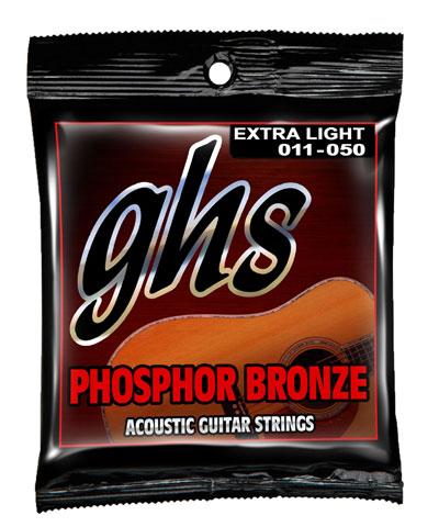 ghs phosphor bronze acoustic guitar strings s315 ex lt 11 50. Black Bedroom Furniture Sets. Home Design Ideas