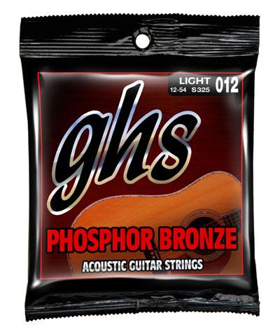 ghs phosphor bronze acoustic guitar strings s325 lt 12 54. Black Bedroom Furniture Sets. Home Design Ideas