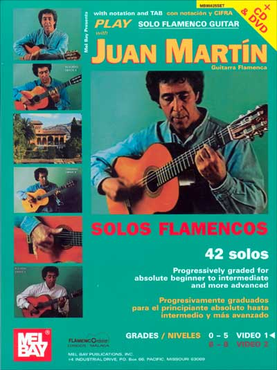 Play Solo Flamenco Guitar with Juan Mart�n Vol. 1 Book/DVD
