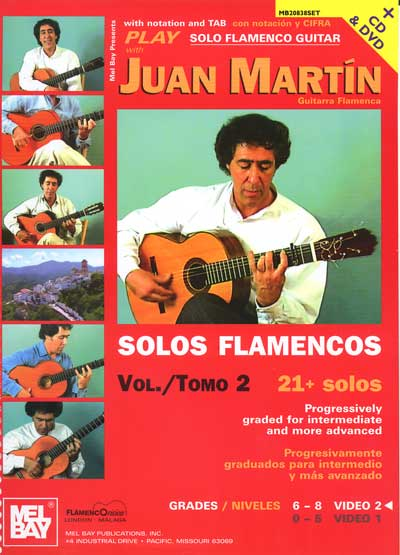 Play Solo Flamenco Guitar with Juan Mart�n Vol. 2 Book/DVD