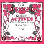 Knobloch Actives CX with carbon trebles Medium Tension, Full Set