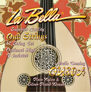La Bella OU80A Oud Arabic Tuning 12 string set with opt High F