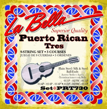 La Bella Set 730 Puerto Rican Tres Ball End 9 strings