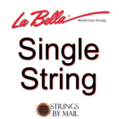 La Bella .028 Silver Wound Bass String, Single String