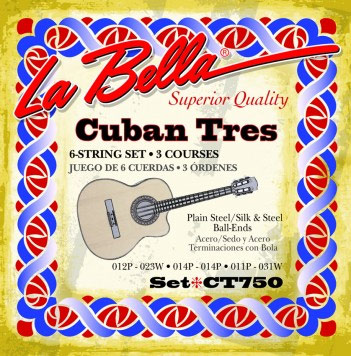 La Bella CT750 Cuban Tres Ball End 6 strings
