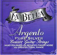 La Bella Argento Hand Polished D A E Medium Tension, Bass Set