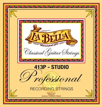 la bella 413p studio recording classical guitar strings full set. Black Bedroom Furniture Sets. Home Design Ideas