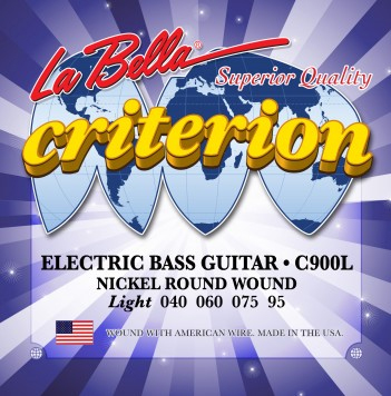 la bella c900l criterion nickel electric bass strings 40 95 full set. Black Bedroom Furniture Sets. Home Design Ideas
