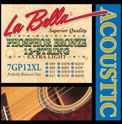 la bella 7gp12xl phosphor bronze 12 string acoustic guitar ex lt 9 48. Black Bedroom Furniture Sets. Home Design Ideas