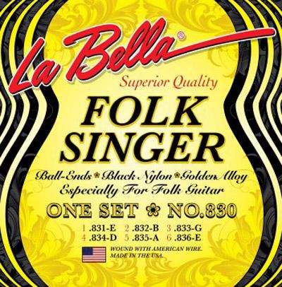 la bella 830 folk singer ball end classical guitar strings full set. Black Bedroom Furniture Sets. Home Design Ideas