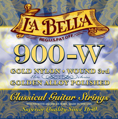 La Bella 900W Golden Superior Medium-High Tension, Full Set