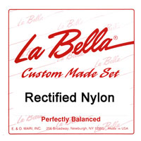 La Bella RN-M Rectified Nylon Medium Tension, Treble Set