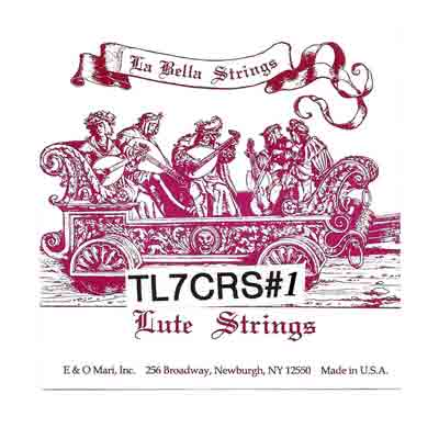 La Bella TL 7crs. #1 Lute Strings 7 Course, Full Set