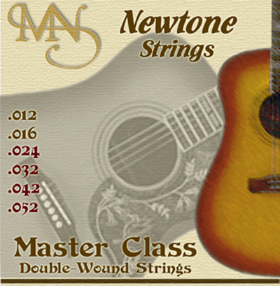 Newtone Master Class Double Wound Acoustic Guitar Strings Med-Lt 12-52