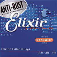 Elixir Nanoweb Coated Electric Guitar Strings