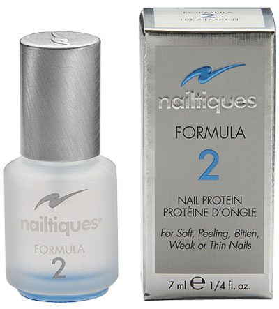 Nailtiques Formula 2 Nail Protein .25 fl oz bottle, blue