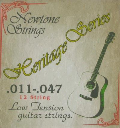 newtone heritage 12 string low tension acoustic guitar strings 11 47. Black Bedroom Furniture Sets. Home Design Ideas
