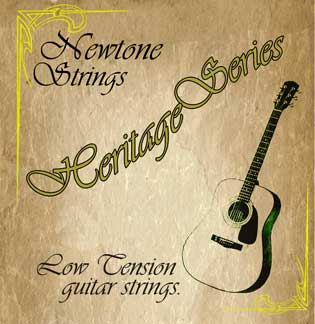 newtone heritage nhs 012 low tension acoustic guitar strings 12 51. Black Bedroom Furniture Sets. Home Design Ideas