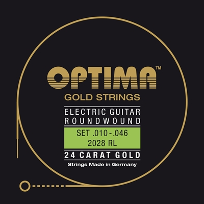 Optima 24K Gold Plated 2028 RL Electric Guitar Strings 10-46