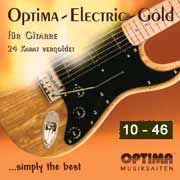 Optima 24K Gold Plated Electric Guitar 10-46, Full Set