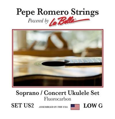 pepe romero strings us2 soprano concert ukulele low g set. Black Bedroom Furniture Sets. Home Design Ideas
