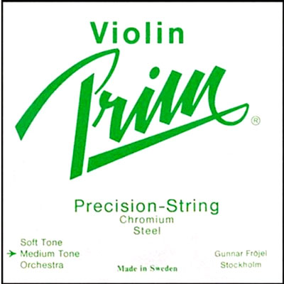 Prim Chromium Steel Violin Set, Medium Tension