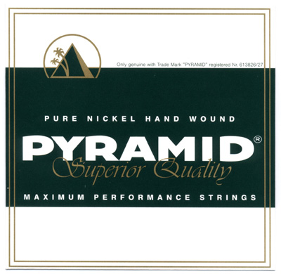 Pyramid Pure Nickel Hand Wound Electric Guitar Strings Light 10-46