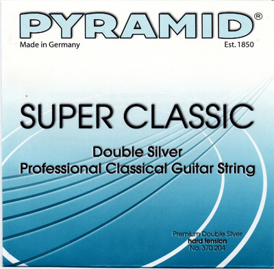 Pyramid Classical Guitar Double Silver Hard Tension, Bass Set