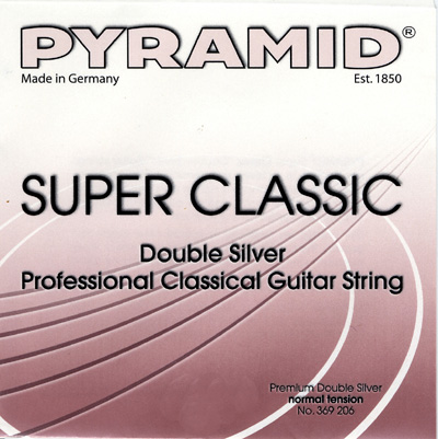 Pyramid Classical Guitar Double Silver Normal Tension, Full Set
