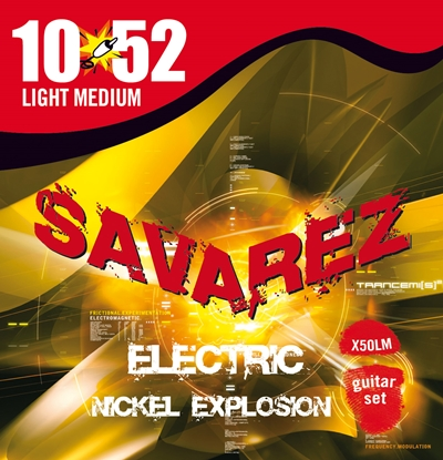 Savarez Nickel Explosion Electric Guitar Strings Lt/Med 10-52