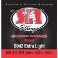 SIT Power Wound Nickel Electric Strings S942 (9-42) Full Set