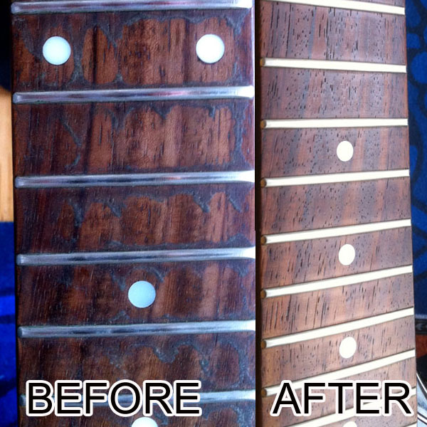 Gibson SG strings change and neck / fret cleaning | Strings By Mail