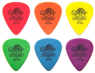 Dunlop Tortex Standard Pick Green .88 mm, One Pick