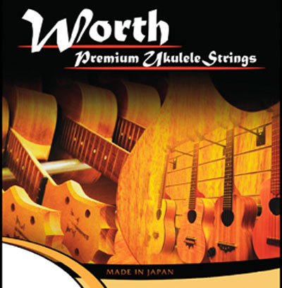 Worth Ukulele Brown Fluoro-Carbon Tenor BT 63 inch, Full Set